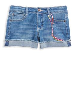 Girls 7-16 Lucky Brand Whisker Wash Denim Shorts - 1784074550033