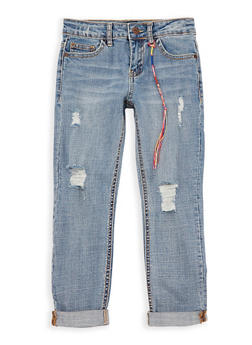 Girls 7-16 Lucky Brand Distressed Boyfriend Jeans - 1784074550320