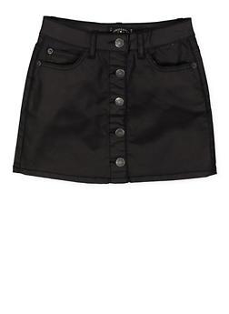 Girls 7-16 Lucky Brand Coated Denim Skirt - 1784074550323