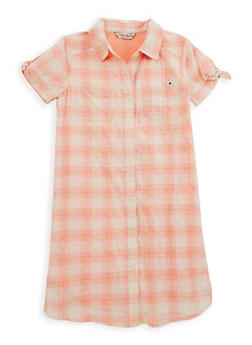 Girls 7-16 Lucky Brand Plaid Button Front Dress - 1785074550007