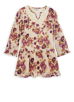Girls 7-16 Lucky Brand Floral Print Dress - 1785074550008