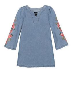 Girls 7-16 Lucky Brand Embroidered Denim Dress - 1785074550015