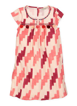 Girls 7-16 Lucky Brand Printed Shift Dress - 1785074550017