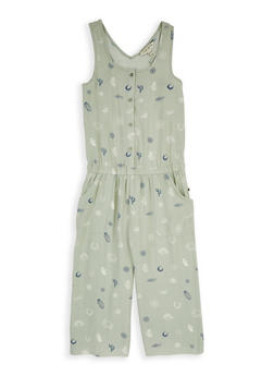Girls 7-16 Lucky Brand Printed Jumpsuit - 1785074550019