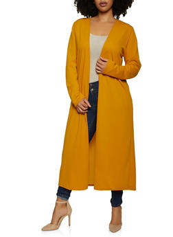 Plus Size Crepe Knit Duster - 1802020623445