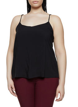 Plus Size Lightweight V Neck Cami - 1803051060815