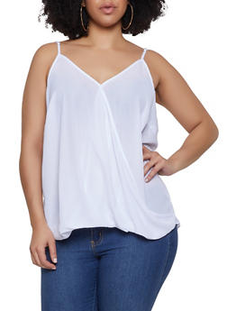 Plus Size Faux Wrap Cami - 1803051060817
