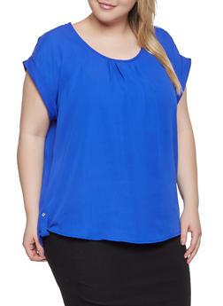 Blue Plus Sized Blouses