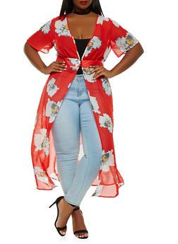 Plus Size Floral Maxi Top - 1803056122735