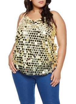 Plus Size Sequin Cami - 1803062128899