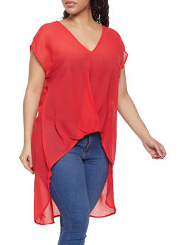 Plus Size High Low Top - 1803074015514