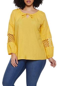 Plus Size Crochet Insert Top - 1803074015543