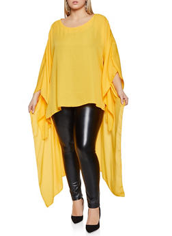 Plus Size High Low Top - 1803074015973