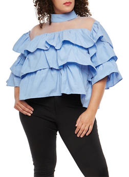 Plus Size Tiered Top - 1803074280624