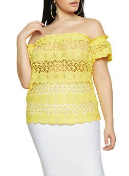Plus Size Sheer Short Sleeve Top