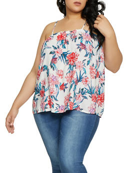 Plus Size Printed Cami Top - 1812051069829