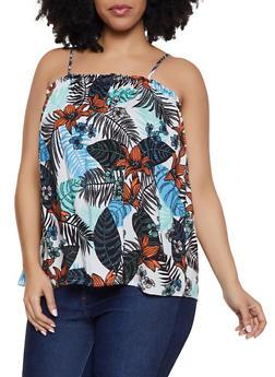 Plus Size Printed Cami Top - 1812051069829