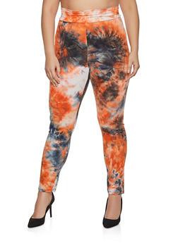 Plus Size Tie Dye Leggings | 1850062121353 - 1850062121353