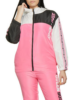 Plus Size Queen Boss Windbreaker Jacket - 1850063400566