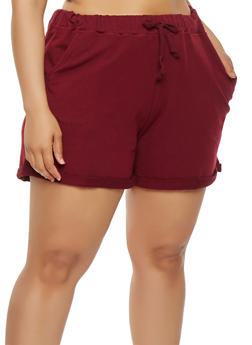 Plus Size Cuffed Shorts - 1860054260468