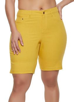 Plus Size Push Up Stretch Shorts - 1860056576991