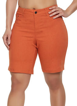 Plus Size Push Up Stretch Shorts - 1860056576991