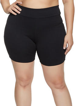 Plus Size Ponte Bike Shorts - 1860074015054