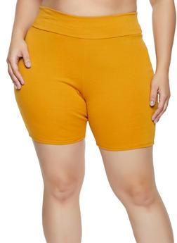 Plus Size Ponte Bike Shorts - 1860074015054