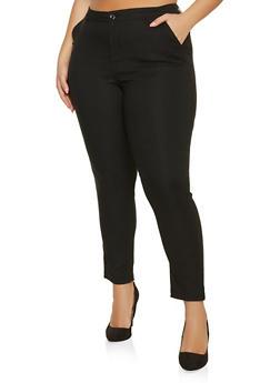 Plus Size Push Up Stretch Pants - 1861056579081