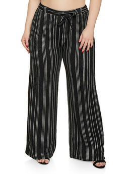 ff280814797 Plus Size Striped Palazzo Pants