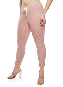 Plus Size Ruched Jeggings - 1865056573245