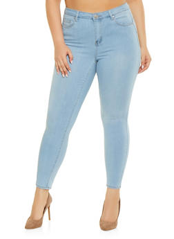 Plus Size Almost Famous Push Up Skinny Jeans - 1870015990040