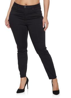 Plus Size Almost Famous Push Up Jeans - 1870015990400