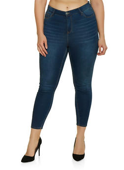 Plus Size Almost Famous Whisker Wash Jeans - 1870015991500