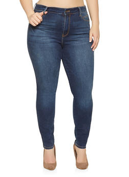Plus Size Cello Whisker Wash Jeans - 1870063155113