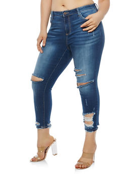 Plus Size Cello Ripped Jeans - 1870063158422
