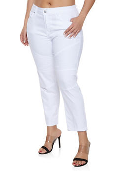 Plus Size Straight Leg Stretch Jeans