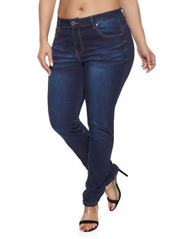 Plus Size VIP Straight Leg Jeans - 1870065300211