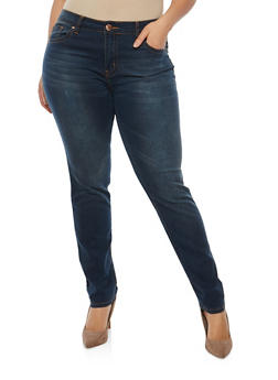 Plus Size VIP Basic Skinny Jeans - 1870065300651