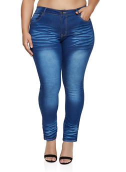Plus Size VIP Push Up Skinny Jeans - 1870065301075