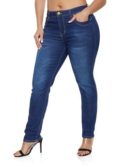 Plus Size VIP Push Up Jeans - 1870065302175