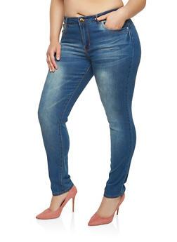 Plus Size VIP Push Up Skinny Jeans - 1870065305317