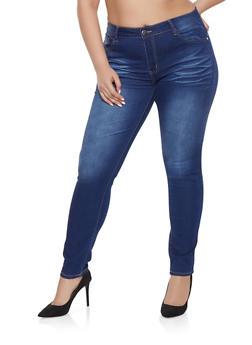 Plus Size VIP Push Up Jeans - 1870065308310