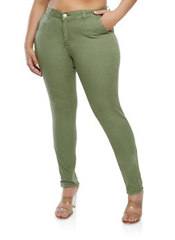 Plus Size Skinny Chino Pants - 1870065308849