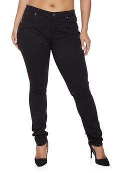 Plus Size Push Up Ponte Pants - 1870068191404