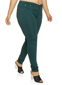 Green Plus Size Pants