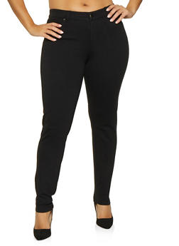 Plus Size Ponte Skinny Pants - 1870068193119