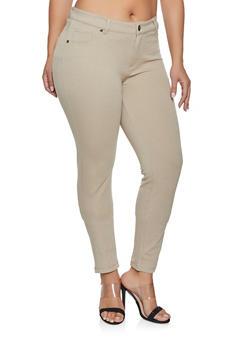 Plus Size Ponte Skinny Pants - 1870068193119