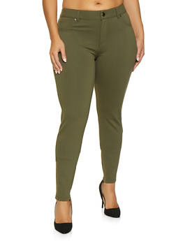 57a86a95135 Plus Size Ponte Skinny Pants - 1870068193119