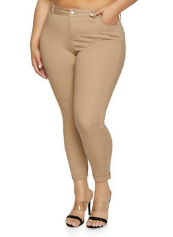 645114081e28 Plus Size WAX Fixed Cuff Stretch Jeans - 1870071610046